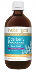 Elderberry Echinacea & Olive Leaf 200ml Herbs of Gold
