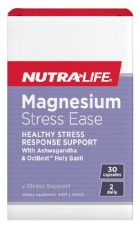 Magnesium Stress Ease 60 Caps Nutra-Life