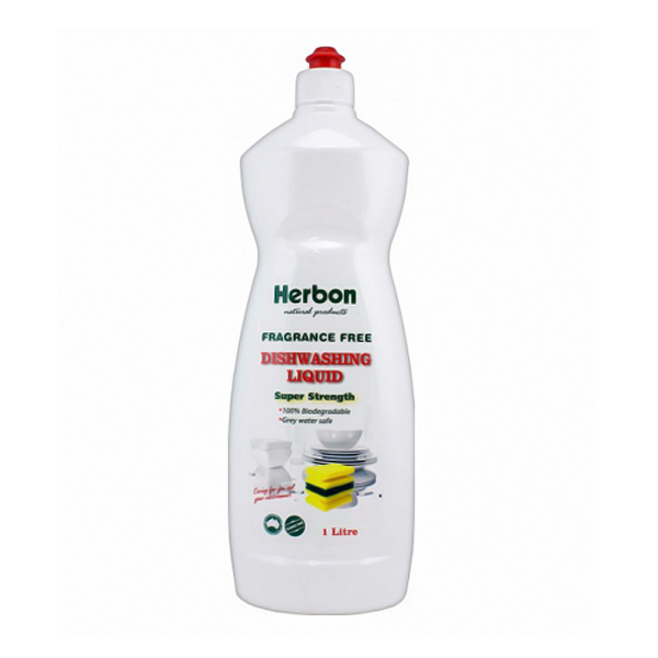 Dishwashing Liquid Fragrance Free 1L Herbon