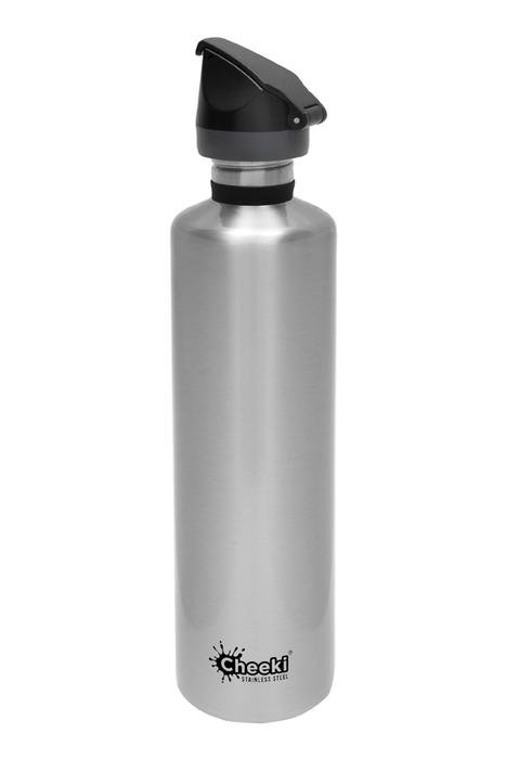Single Wall Active Bottle - Silver 1L Cheeki