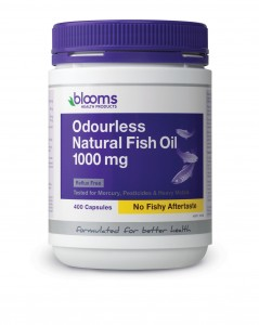Odourless Natural Fish Oil 1000mg 400 Caps Blooms