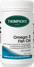 Omega 3 Fish Oil 1000mg 400 Caps Thompson's