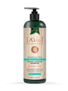 Mild & Gentle Fragrance Free Shampoo 500ml A'kin