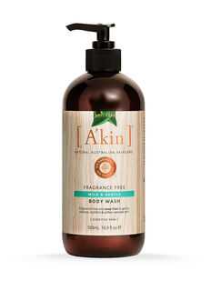 Fragrance Free Mild & Gentle Body Wash 500ml A'kin