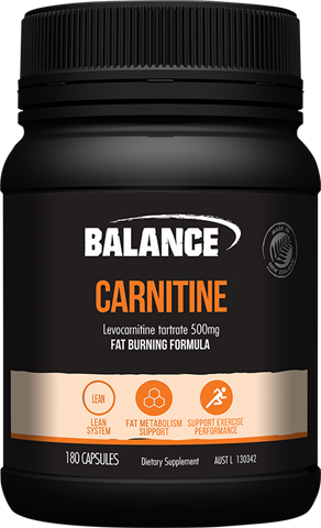 Carnitine 500mg 180 Caps Balance