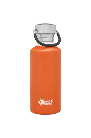 Classic Single Wall Bottle - Orange 500ml Cheeki