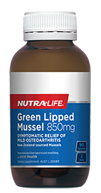 Green Lipped Mussel 850mg 90 Caps Nutra-Life