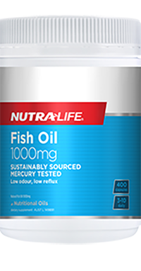 Fish Oil 1000mg 400 Caps Nutra-Life