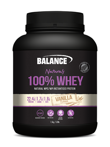 Naturals 100% Whey Vanilla 1.5kg Balance