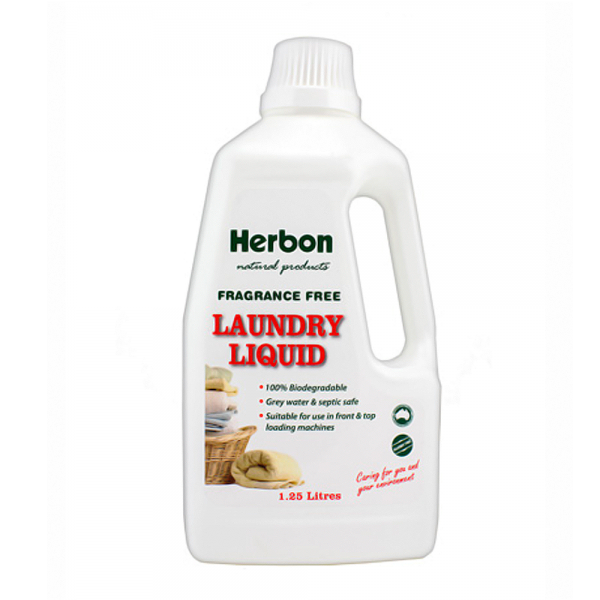 Laundry Liquid Fragrance Free 1.25L Herbon