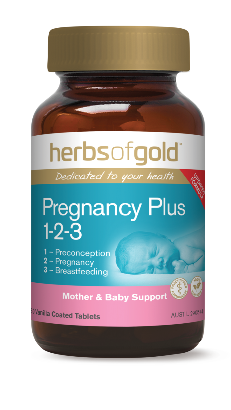 Pregnancy Plus 1-2-3 60 Tabs Herbs of Gold
