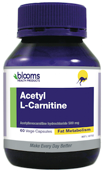 Acetyl L-Carnitine 500mg 60 caps Blooms
