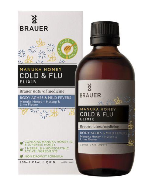 Manuka Honey Cold & Flu 200ml Brauer