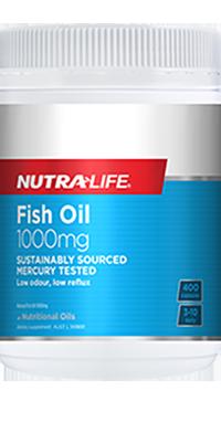 Fish Oil 1000mg 400 Caps Nutra-Life