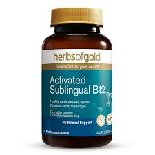 Activated Sublingual B12 75 Tabs Herbs of Gold