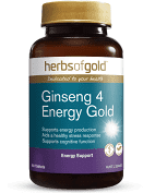 Ginseng 4 Energy Gold 60 Tabs Herbs of Gold