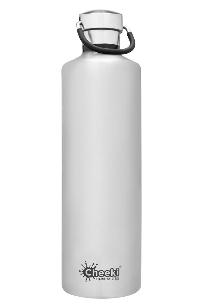 Classic Insulated Bottle - Silver 1L Cheeki