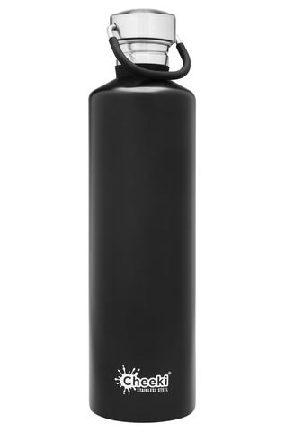 Classic Single Wall Bottle - Matte Black 1L Cheeki