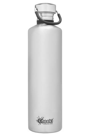 Classic Single Wall Bottle - Silver 1L Cheeki