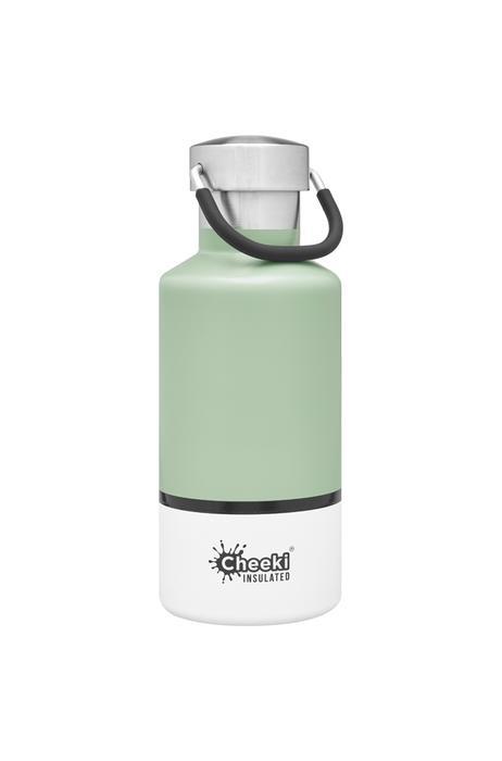Classic Insulated Bottle - Pistachio White 400ml Cheeki
