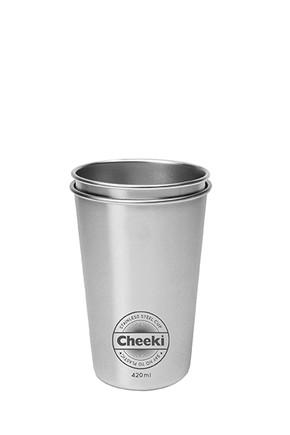 Stainless Steel Cups - Twin Pk 420ml  Cheeki