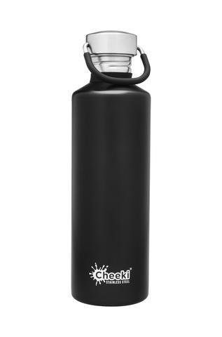 Classic Single Wall Bottle - Matte Black 750ml Cheeki