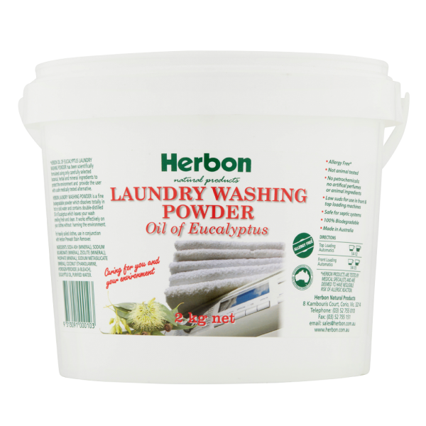 Laundry Washing Powder 2kg Herbon