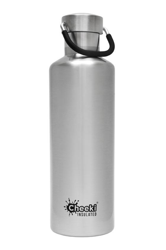 Classic Insulated Bottle - Silver 600ml Cheeki