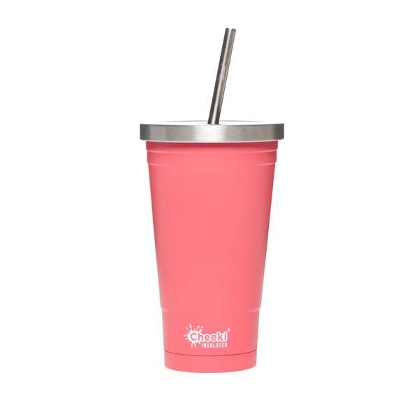 Stainless Steel Insulated Tumbler - Dusty Pink 500ml Cheeki