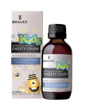 Kids Manuka Honey Chesty Cough 100ml Brauer