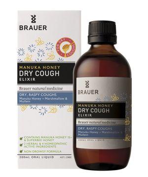 Manuka Honey Dry Cough 200ml Brauer