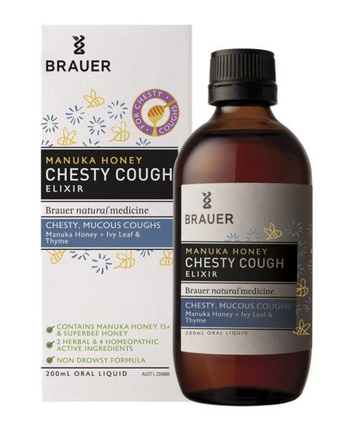 Manuka Honey Chesty Cough 200ml Brauer