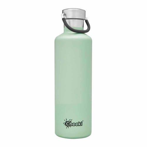 Classic Insulated Bottle - Pistachio White 600ml Cheeki