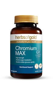 Chromium MAX 120 Caps Herbs of Gold